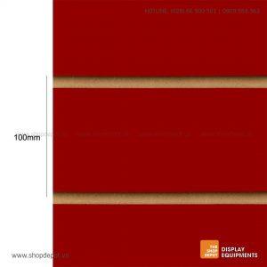 Bảng gỗ Slatwall trưng bày, MDF 18mm - Đỏ