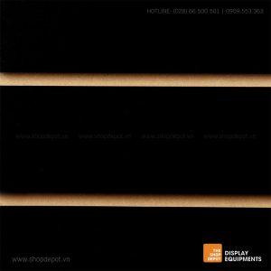 Bảng gỗ Slatwall trưng bày, MDF 18mm - Đen