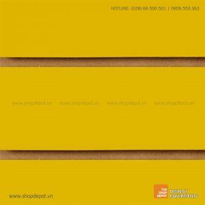 Bảng gỗ Slatwall trưng bày, MDF 18mm – Vàng