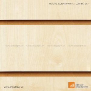 Bảng gỗ Slatwall trưng bày, MDF 18mm - Vân gỗ Maple