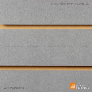 Bảng gỗ Slatwall trưng bày, MDF 18mm – Xám
