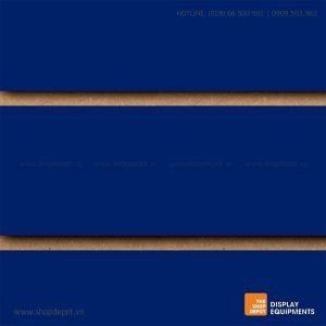 Bảng gỗ Slatwall trưng bày, MDF 18mm - Xanh