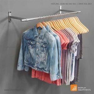 Combo giá treo quần áo gắn tường 2 tay đỡ