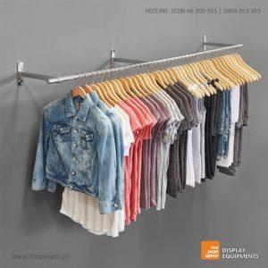 Combo giá treo quần áo gắn tường 3 tay đỡ