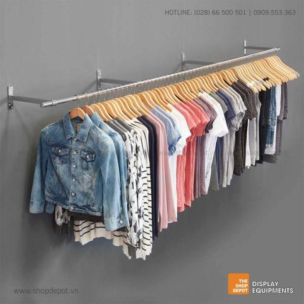 Combo giá treo quần áo gắn tường 4 tay đỡ