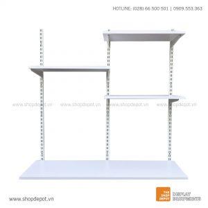 Combo railshelf kết hợp bàn làm việc