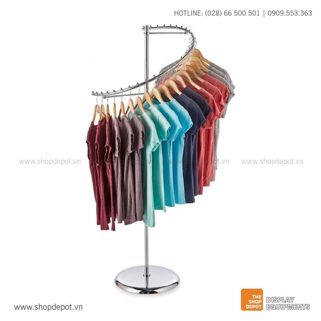 Giá trưng bày quần áo xoắn ốc TEVIN