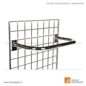 Giá treo chữ D cài khung lưới gridwall
