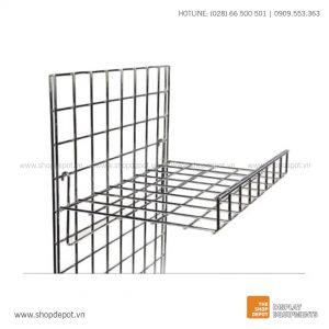 Kệ lưới đan trưng bày cài khung lưới Gridwall