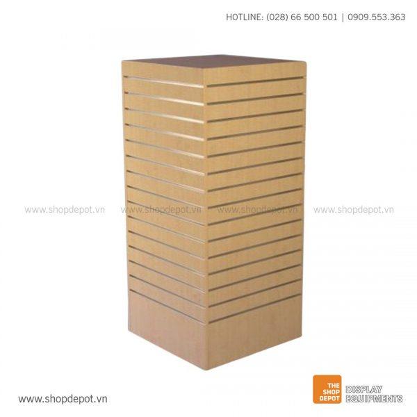 Quầy gỗ trưng bày Slatwall tháp LOGAN