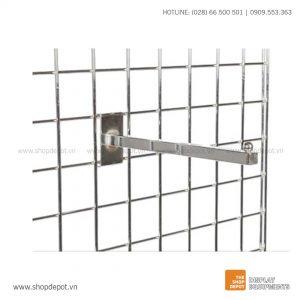 Tay treo trưng bày thẳng cài khung lưới Gridwall